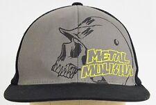 Metal Mulisha Flex fit fitted one size baseball hat cap black yellow gray