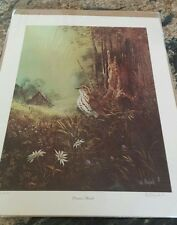 """Ted Blaylock Signed, Limited Ed. Print, """"Pioneer Thrush"""", in original packaging"""