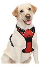 Pit bull Dog Harness Non Pull Dog Harness BARKBAY Size L Red Reflective NOB