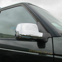 Pair of chrome door wing mirror covers for Range Rover P38 Vogue anniversary cap