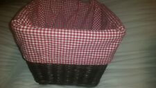 POTTERY BARN sabrina basket liners red white gingham large cameron Storage