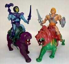 Vintage Masters of the Universe lot He-Man Battle Cat Skeletor Panthor COMPLETE