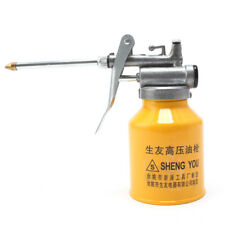 Spray Gun Pot  250ml  High Pressure Pump Action Oiler Lubrication Feed Oil Can