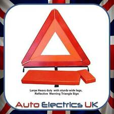 HEAVY DUTY Red Warning Triangle car EU Legal Requirement travel WIDE STURDY LEGS