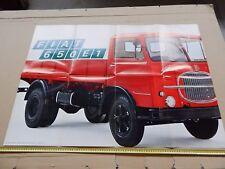 RARO MANIFESTO POSTER ORIGINALE CAMION FIAT 650E1 650 E1