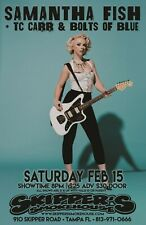 SAMANTHA FISH / TC CARR 2019 TAMPA CONCERT TOUR POSTER- Blues, Roots Rock