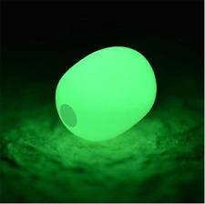 200pcs Soft Plastic Luminous Glow Fishing Beads Green Sea Fishing Tackle Tools