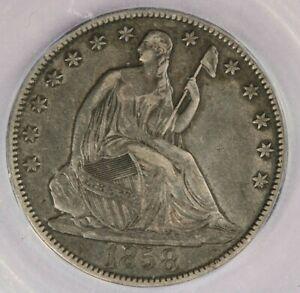 1858-O Liberty Seated Half Dollar ICG EF40 XF40