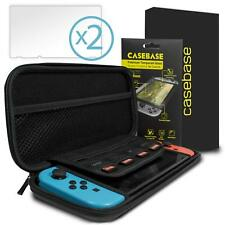 CaseBase Nintendo Switch Protective Pack with Carry Case and Screen Protector