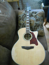 D'Angelico Premier Gramercy Acoustic-Electric Guitar Natural,