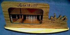 New Wooden BowlingFrame with Wood Tabletop Stand and Laser Details on Side