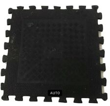 10 X Jordan Gym Tiles Mat Checker Interlocking Grid Rubber Heavy Duty 50x50cm🏋️