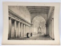 Santa Maria Trastevere Rome 1843 G. Moore Lithograph Architecture of Italy