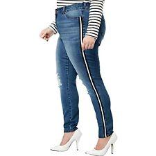 MSRP $64 Celebrity Pink Womens Denim Mid-Rise Skinny Jeans Blue Size 20W