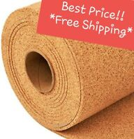 """4' WIDE (BY THE FOOT) 1/4"""" THICK ONE CORK ROLL CHOOSE SIZE bulletin board sheet"""