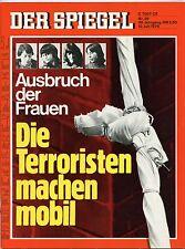 """""""Der Spiegel"""" Nr 29 v. 1976, Die Terroristen machen mobil - Ausbruch der Frauen"""
