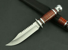 New Bald Warriors 3Cr13Mov Blade wood Handle Outdoor camping Hunting Knife K3021