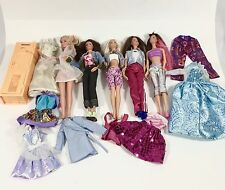 Mixed Lot 5 Dressed Mattel Barbie Friends Sabrina Fashionista Clothes Locker
