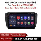 9  Android 10.1 Car Stereo Media Player GPS Head Unit For Seat Ibiza 2009-2013