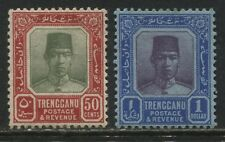 Trengganu 1921-29 50 cents and $1 mint o.g.