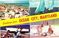 Vintage Postcard - Un-Posted Greetings From Ocean City Maryland MD #4880