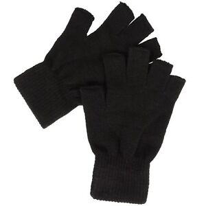1,2 Thermal Men Ladies Boys Women Black Half Figure Magic Grip Gripper Gloves