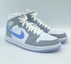 Nike Air Jordan 1 Mid Wolf Grey Aluminum Sneaker BQ6472-105 NEU Damen