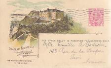 Kanada - Ganzsachenkarte - Zudruck: Chateau Frontenac Quebe - 1-Cent Wertstempel