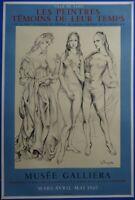 Tsuguharu FOUJITA : Les trois Graces - Lithographie originale signée