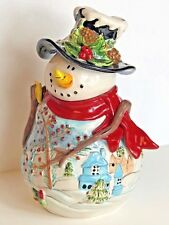 Blue Sky Clayworks SNOWMAN Cookie Jar Christmas Holiday Heather Goldminc 2011