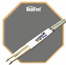 """Evans RF-12G Practice Pad 12"""" + keepdrum  5A Drumsticks 1 Paar"""