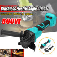 800W Cordless Brushless Electric Angle Grinder 9000rpm Tool For Makita 18V