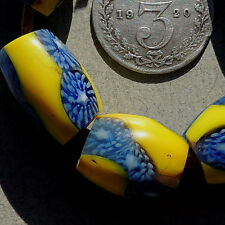 6 old antique venetian oval millefiori african trade beads #1319