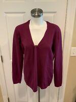 Title Nine Purple V-Neck Sweater, Size Large