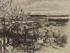 Hans SEYDEL (1886-1916) Radierung 1903: KARSCHAU-NIMTSCH KREIS STEHLEN SCHLESIEN