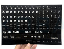 Laptop Computer PC Replacement Keyboard Stickers Language English Universal