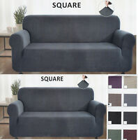 2 Piece Velvety Soft Stretch Couch Sofa + Loveseat Slip Cover New  at Linen Plus