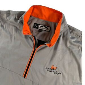 Sun Mountain Men's Battleground Country Club 1/4 Zip Rain Jacket Gray • XL
