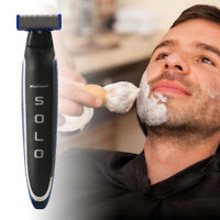 Men's Rechargeable Cordless Electric Razor Shaver Groomer Double Edge Trimmer