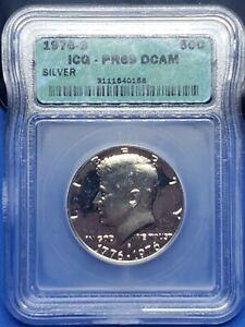 ●《☆♡☆》 1976-S Kennedy Silver Half Dollar, ICG PR 69 DCAM, 50C, $0.50 USD.