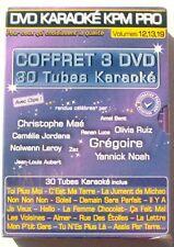 COFFRET 3DVDs - KARAOKE KPM PRO - Ch. MAE / ZAZ / ....- vol 12, 13, 19 - NEUF
