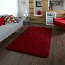 Think Rugs Monte Carlo Shaggy Hand Tufted Rug Red 120x170cm (4x6')