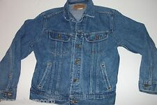 Lee Riders Denim Jean Jacket - Trucker -Made in USA - Men's S - FREE SHIPPING