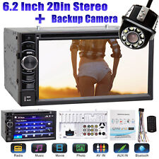 Double 2 DIN Car Stereo DVD Player Bluetooth Radio with Camera For Chevrolet GMC