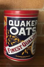 "Vintage (1992) Round Food Tin, Quaker Oats, Limited Edition, 5"" by 7"""