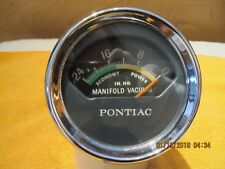 1961-68 VINTAGE VACUUM GAUGE FOR PONTIAC CARS GTO AND FULL SIZE CARS