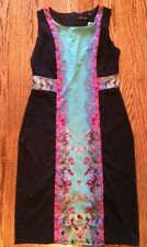 NWT Women's Small Designer Black Spring Dress Floral By McLaire