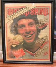 "Framed Mark ""The Bird"" Fidrych autograph picture from Cover of Rolling Stone"