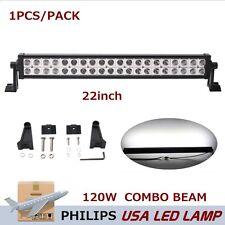 Philips 22inch 120W LED Driving Work Light Bar Spot Flood Offroad Truck AYV BAOT