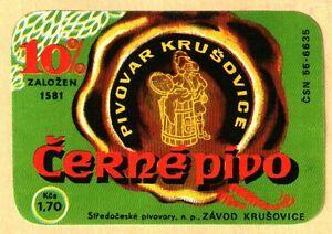 ETICHETTA -Černé Pivo 10% -birrificio di Krusovice - Repubblica Ceca - N. 104